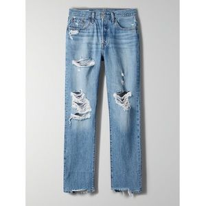 LEVI'S 501 Ripped High Waist Straight Leg Jean